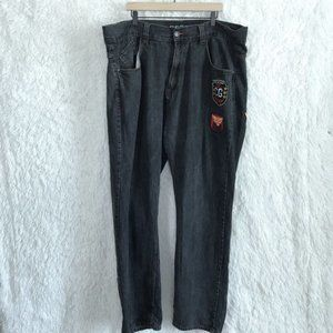 Coogi Straight Leg Jeans Logo Patches